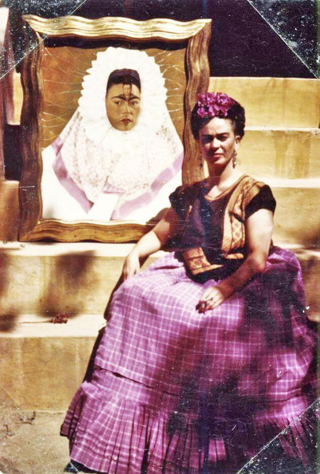 Photo of Frida Dress in Tehuana, 1943 by Frida Kahlo