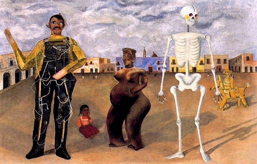 Four Inhabitants of Mexico, 1938 by Frida Kahlo