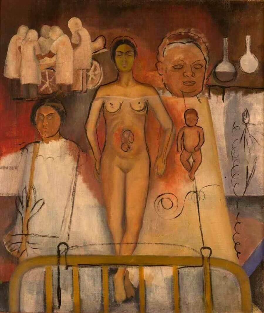 Frida and Cesarean Operation, 1932 by Frida Kahlo