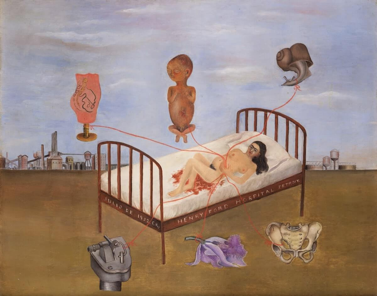 Henry Ford Hospital (The Flying Bed), 1932 by Frida Kahlo