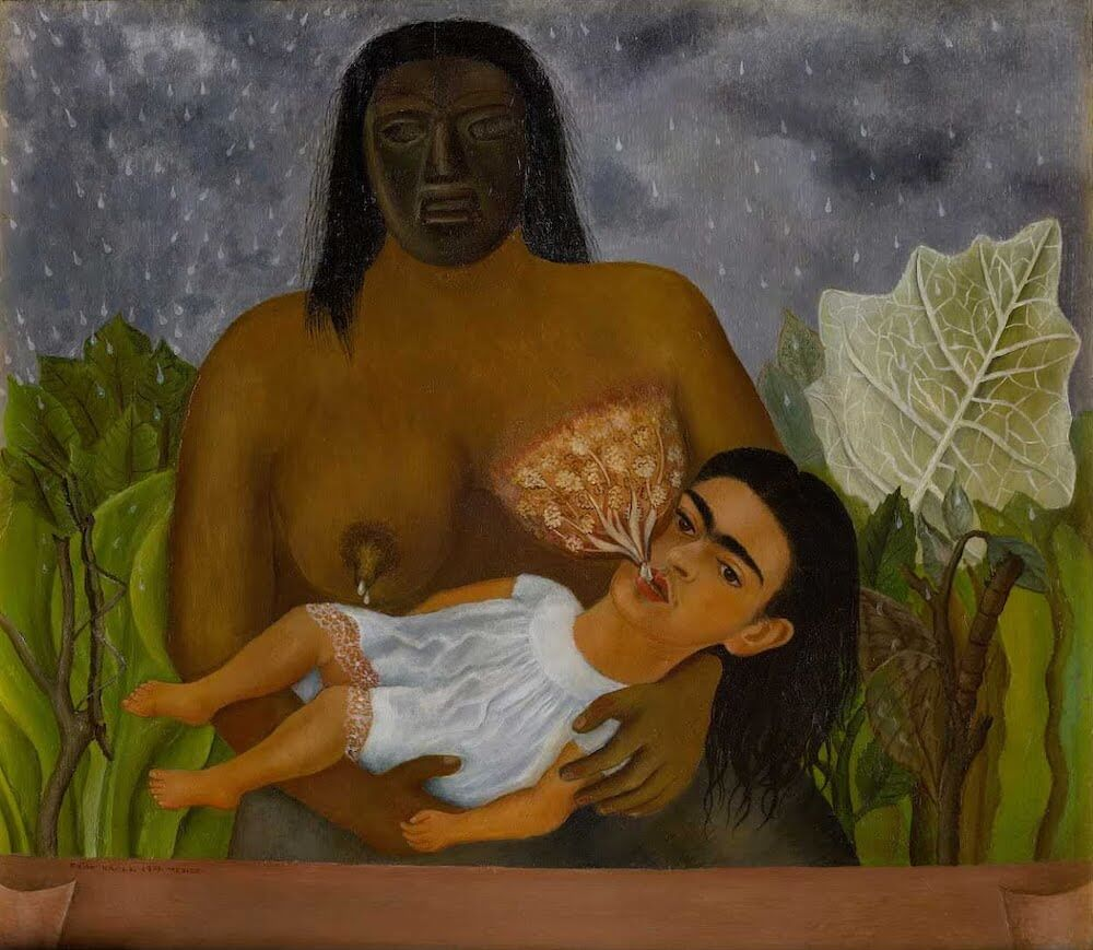 My Nurse and I, 1937 by Frida Kahlo