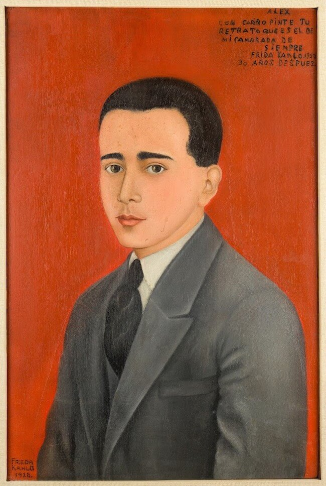 Portrait of alejandro gomez arias - by Frida Kahlo