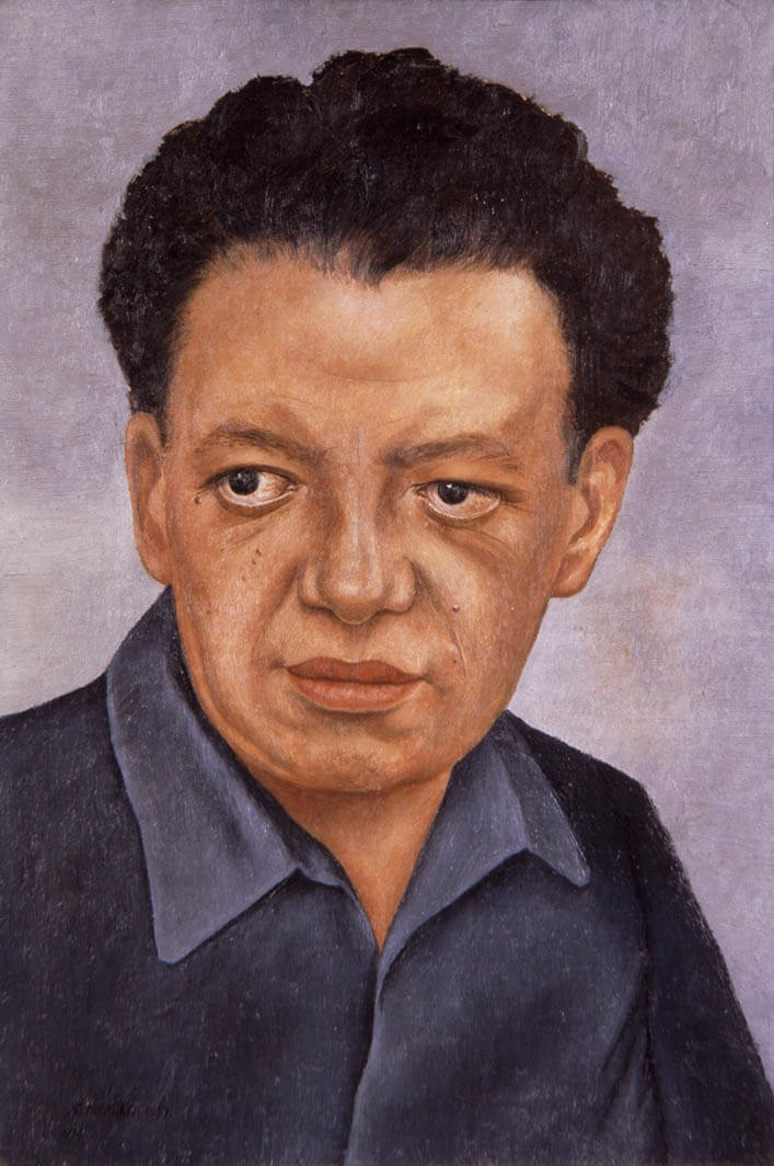 Portrait of diego rivera - by Frida Kahlo