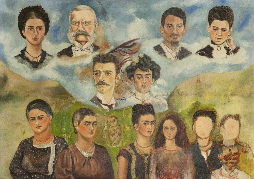 Portrait of Frida's Family, 1950 - by Frida Kahlo