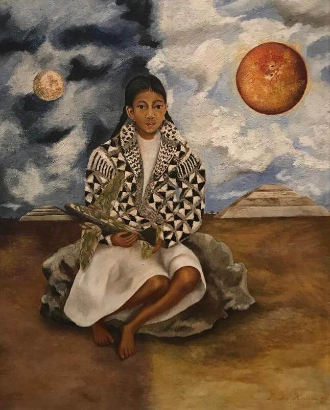 Portrait of Lucha Maria, A Girl from Tehuacan, 1942 - by Frida Kahlo