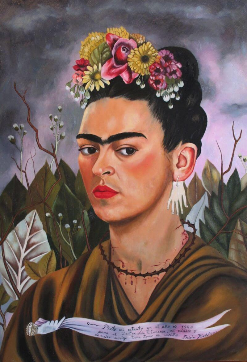 Self Portrait, Dedicated to Dr Eloesser, 1940 by Frida Kahlo