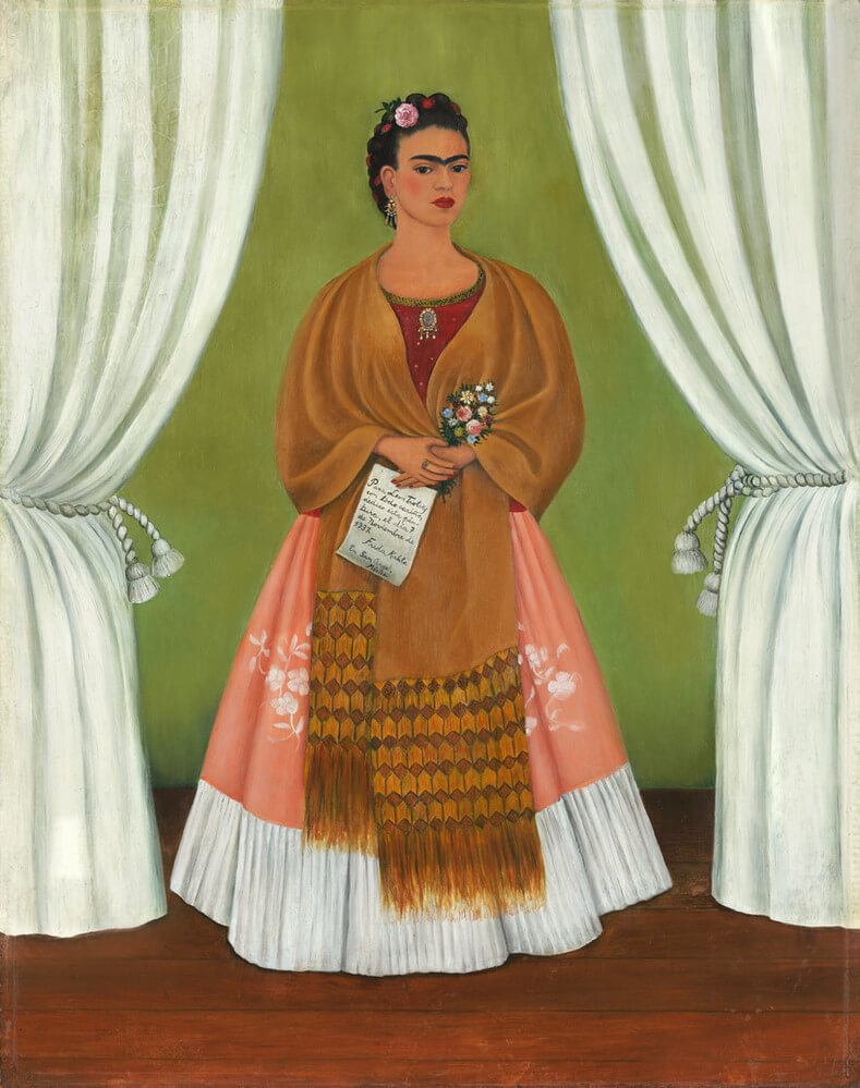 Self-Portrait Dedicated to Leon Trotsky 1937 - by Frida Kahlo