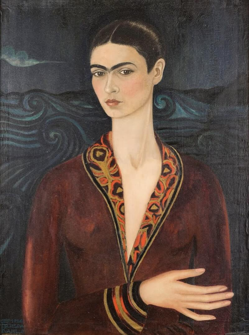 Self Portrait in a Velvet Dress, 1926 by Frida Kahlo