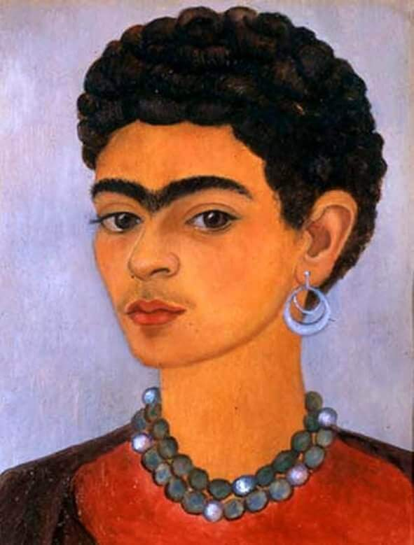 Self Portrait with Curly Hair, 1935 - by Frida Kahlo