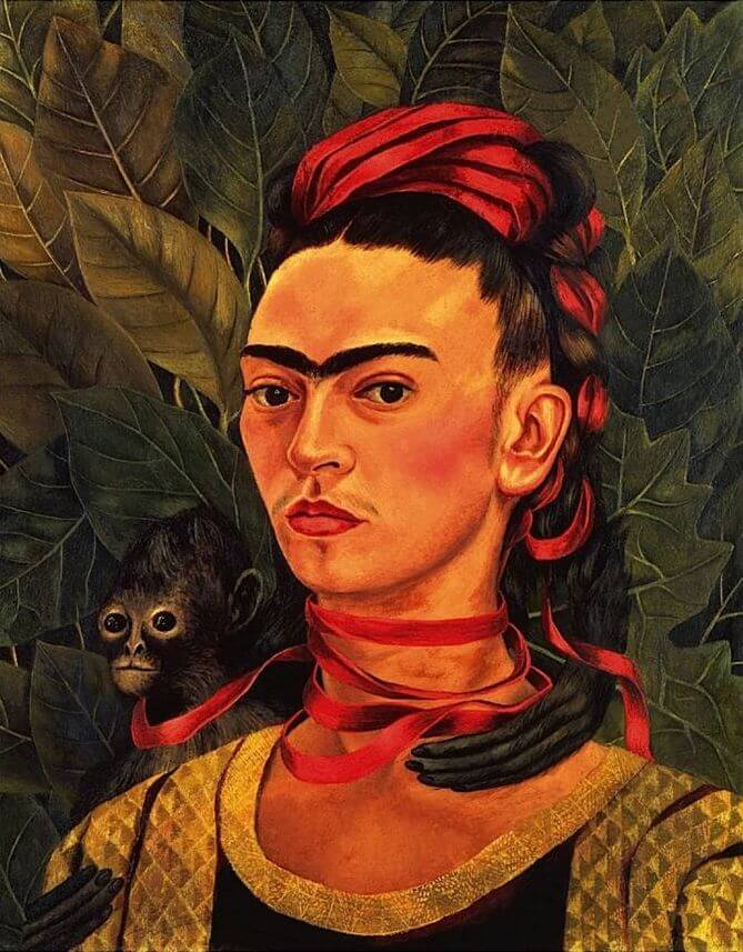 Self Portrait with Monkey, 1940 by Frida Kahlo