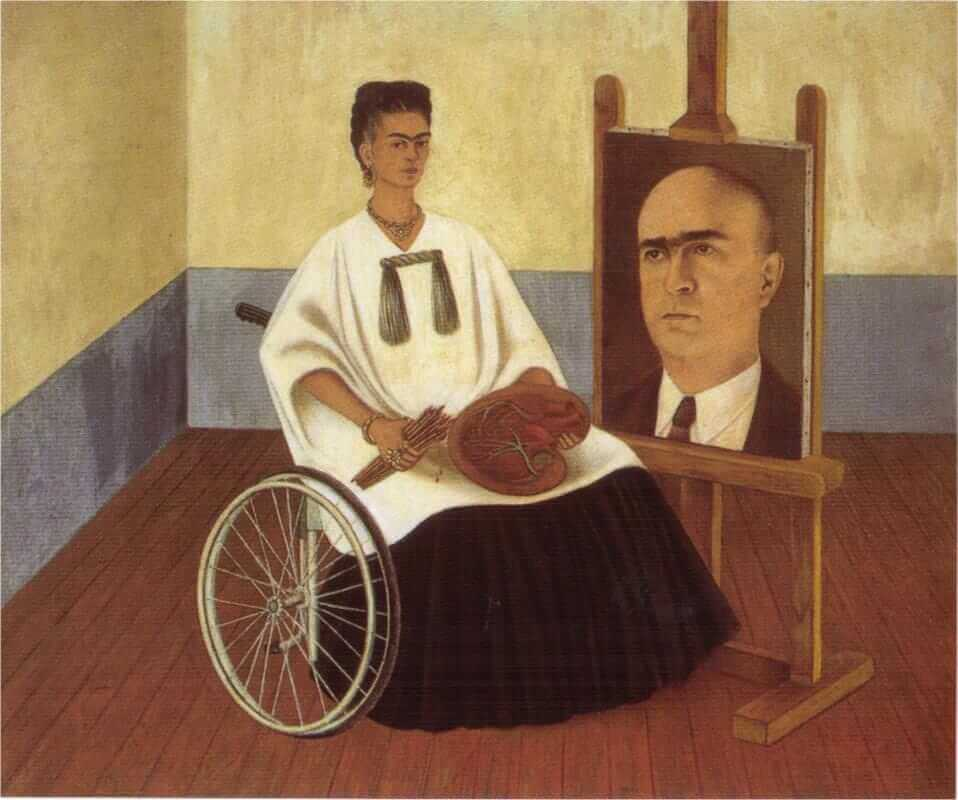 Self-Portrait with the Portrait of Doctor Farill, 1951 - by Frida Kahlo
