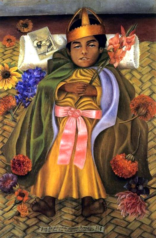 The Deceased Dimas, 1937 - by Frida Kahlo