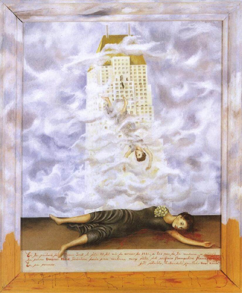 The Suicide of Dorothy Hale, 1938 - by Frida Kahlo