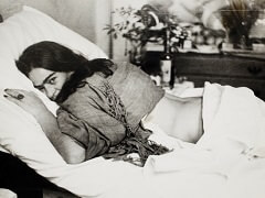 Frida Kahlo Lying on her Stomach