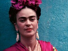 Frida Kahlo with Picasso Earrings